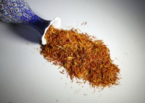 Threads of saffron still command a high price in spice markets globally.[Photo by Wang Zhuangfei/China Daily]