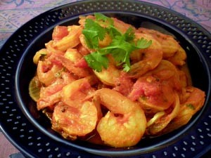 Shrimp or Scallops in a Spicy Tomato Sauce