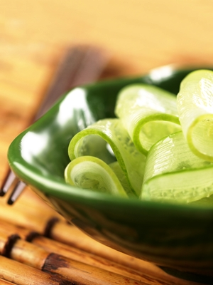 Sliced Bhutanese Pickled Cucumbers