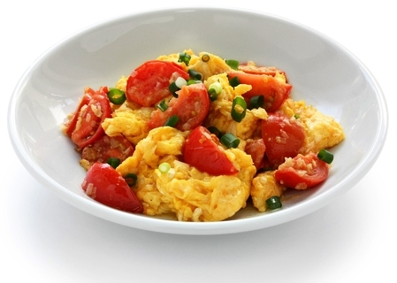 Chinese Eggs with Tomatoes