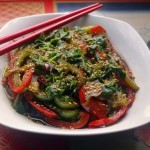 Sliced Peppers with Century Eggs