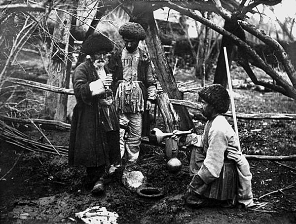 Sampling Wine out of a Qvevri or Karas in Armenia, 1923