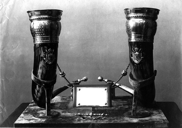 Drinking Horns Set in Silver, 1880 (Tblisi)