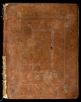 Cover of Wellcome MS 4050, 1675